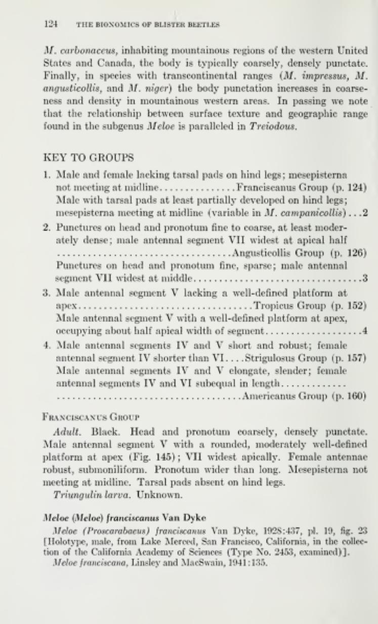 Key to Groups p. 124