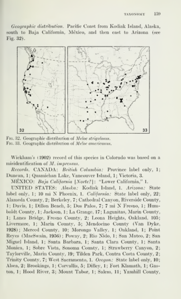 Geographic.distribution of M. strigulosus  p. 159